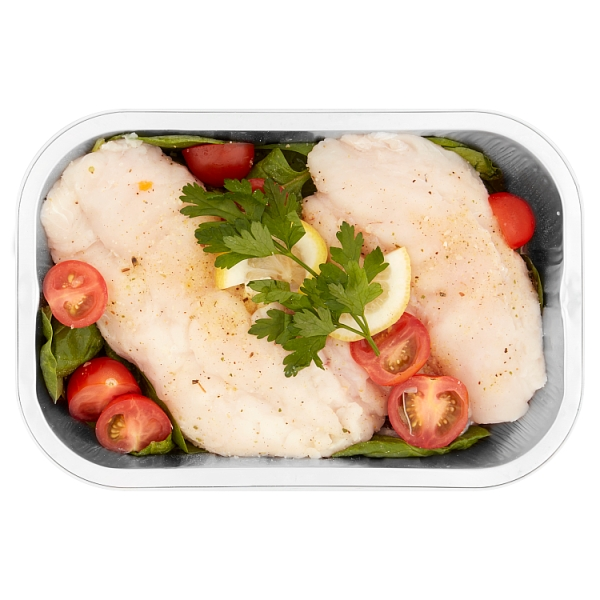 Prepared By Our Fishmonger Hake With Spinach & Tomatoes
