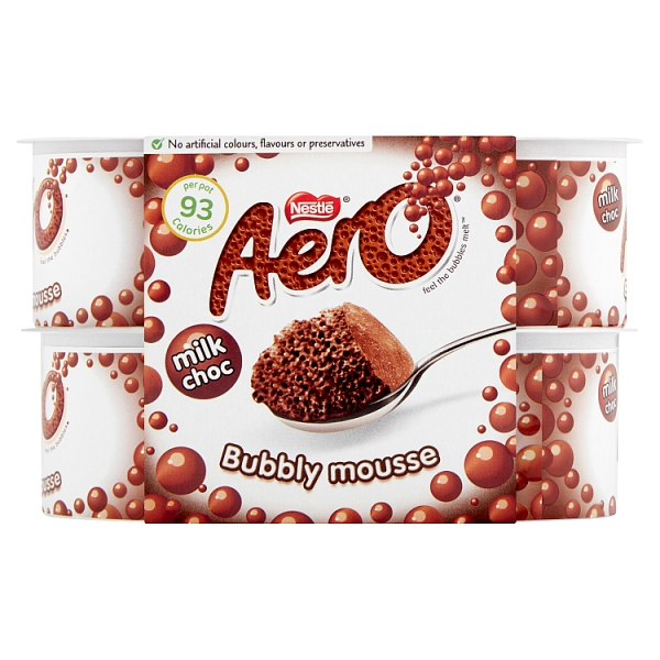 Aero Chocolate Bubbly Mousse 4 Pack