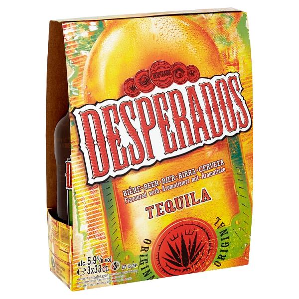 Desperados Bottle 3 Pack 330 Millilitre