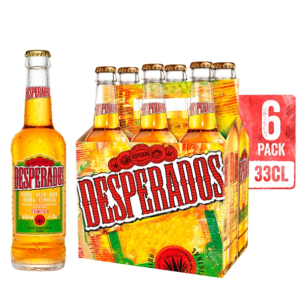 Desperados Bottles 6 Pack 330 Millilitre