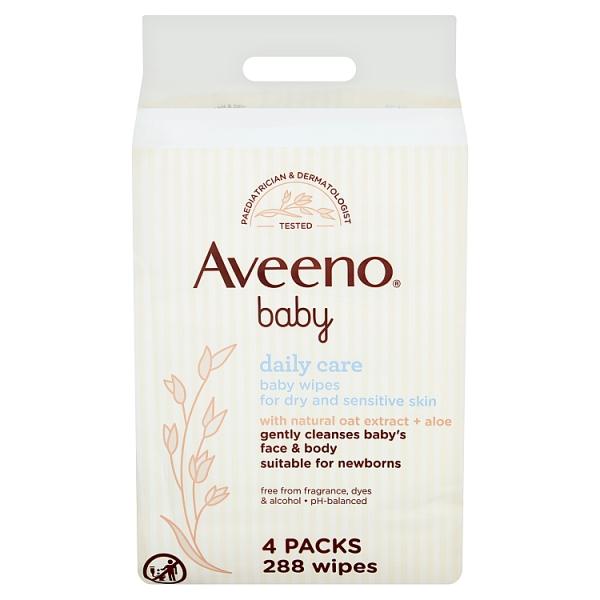 Aveeno Baby Baby Wipes 4 Pack