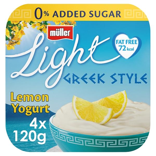 Muller Light Greek Style Lemon Yogurt 4 Pack