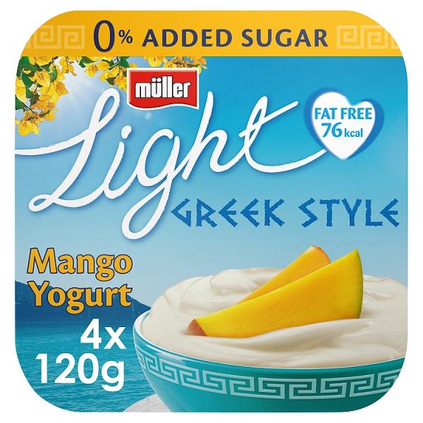 Muller Light Greek Style Mango Yogurt 4 Pack