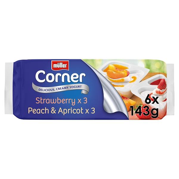 Muller Fruit Corner Strawberry 6 Pack (143 Grams)