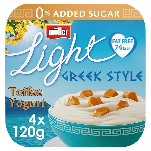 Muller Light Greek Style Toffee Yogurt 4 Pack