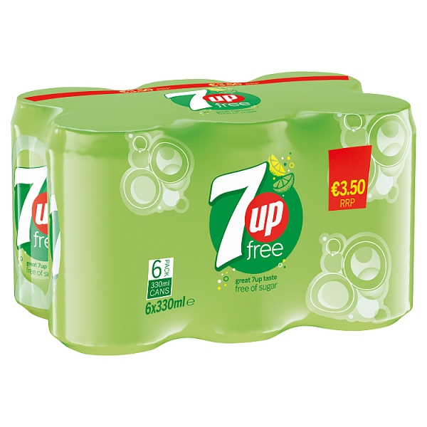 7up Free Can 6PK