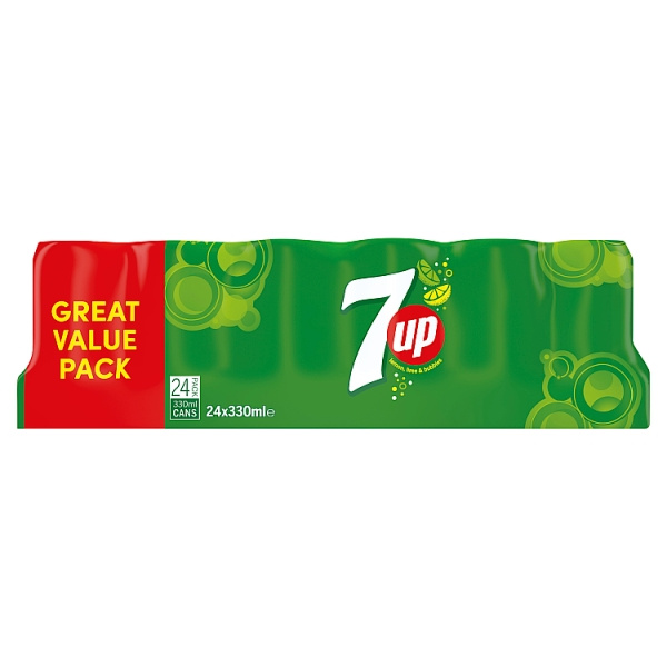 7Up Regular 24 Pack 330ml Cans
