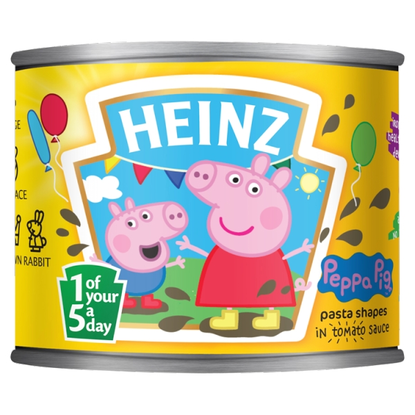 Heinz Peppa Pig Shaped Pasta (205 Grams)