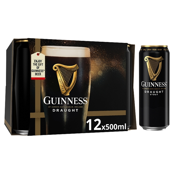 Guinness Stout Cans 12 Pack