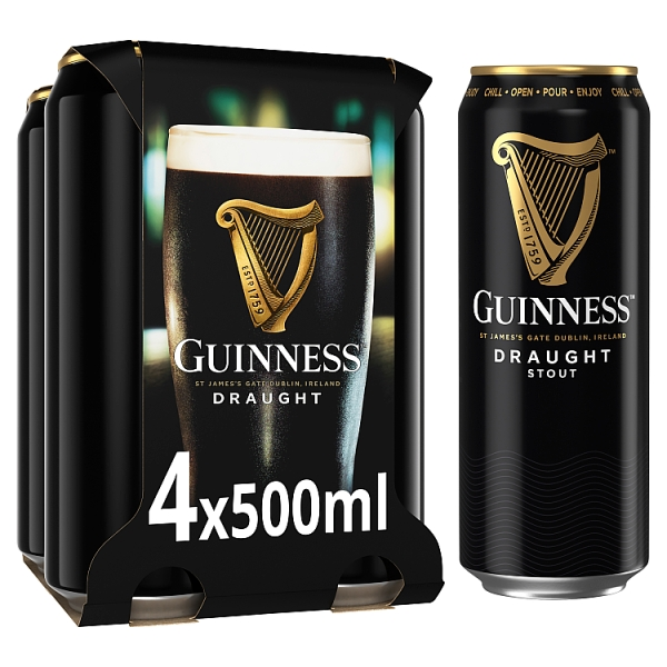 Guinness Draught Stout Cans 4 Pack