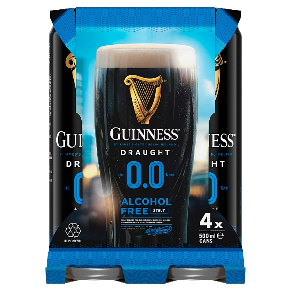 Guinness 0.0 Draught Stout 4 Pack