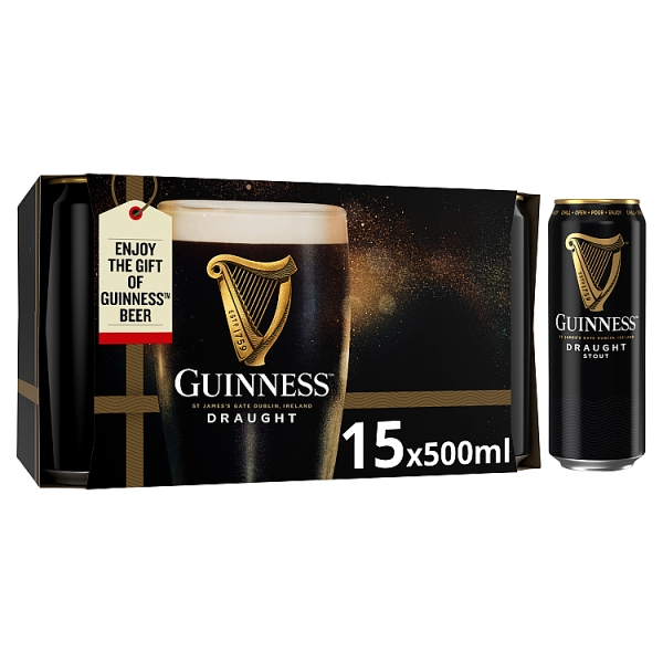 Guinness Stout Can 15 pack