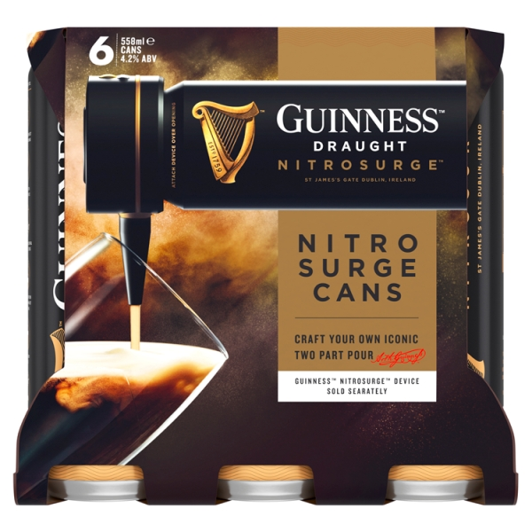 Guinness Draught Nitrosurge Cans 6 Pack