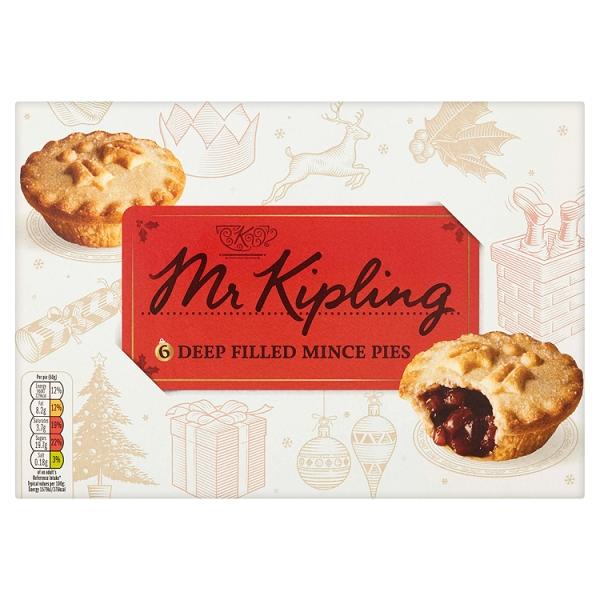 934603adb8 Mr. Kipling Mince Pies 6 Pk (393 Grams)