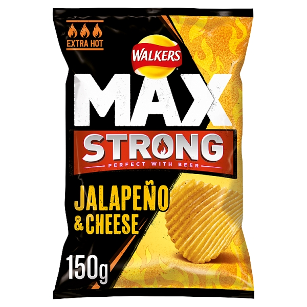 Walkers Max Strong Jalepeno & Cheese Crisps