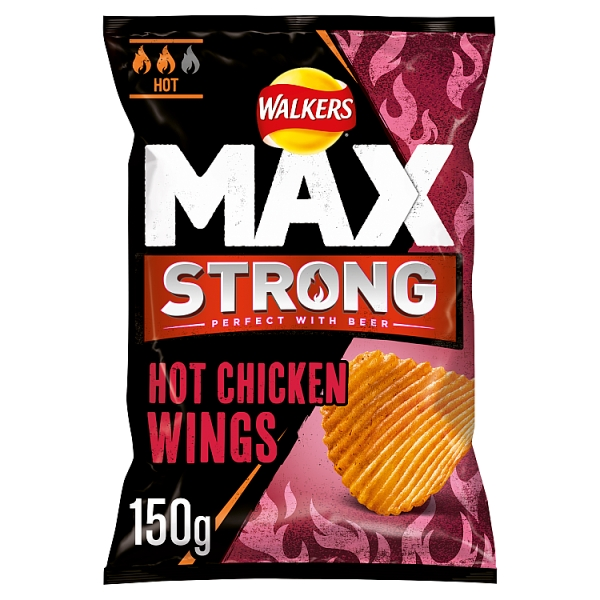Walkers Max Strong Hot Chicken Wings Crisps