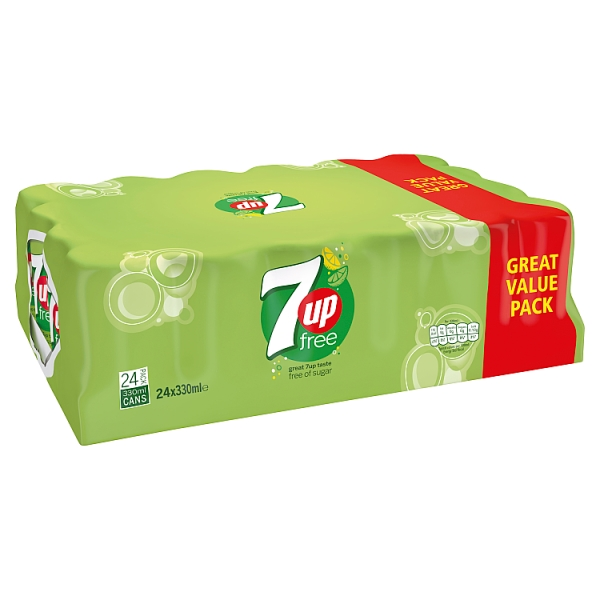 7UP Free Cans 24 Pack