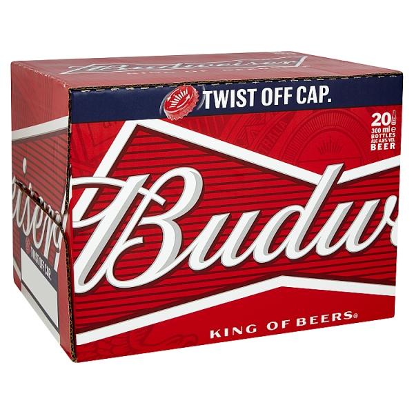 Budweiser Bottle 20 Pack (300 Millilitre)
