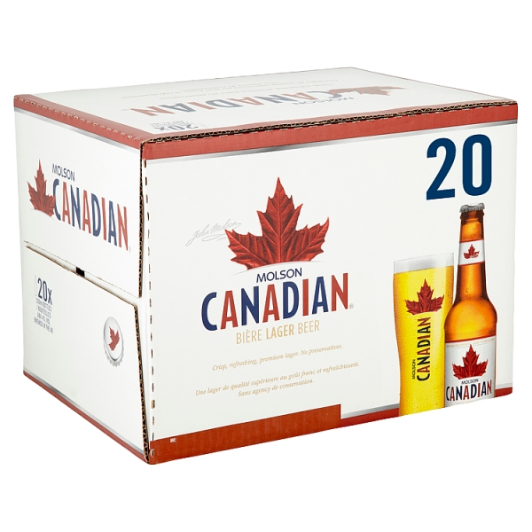 Molson Canadian Bottles 20 Pack