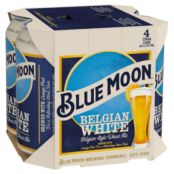 Blue Moon 4Pack Can (330 Millilitre)