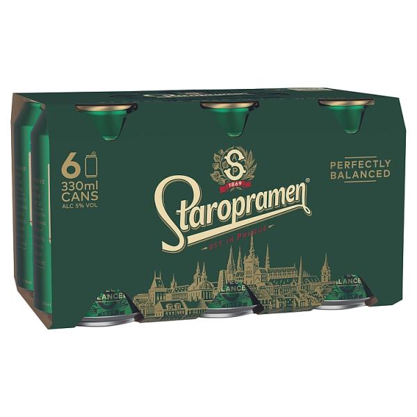 Staropramen 6 Pack Can