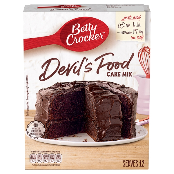 Betty Crocker Devil S Food Cake Mix