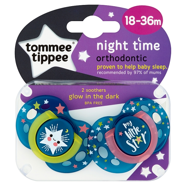 So Sleepy 1 2 3 6 12 Packs Tommee Tippee Night Time  Soothers 18-36m