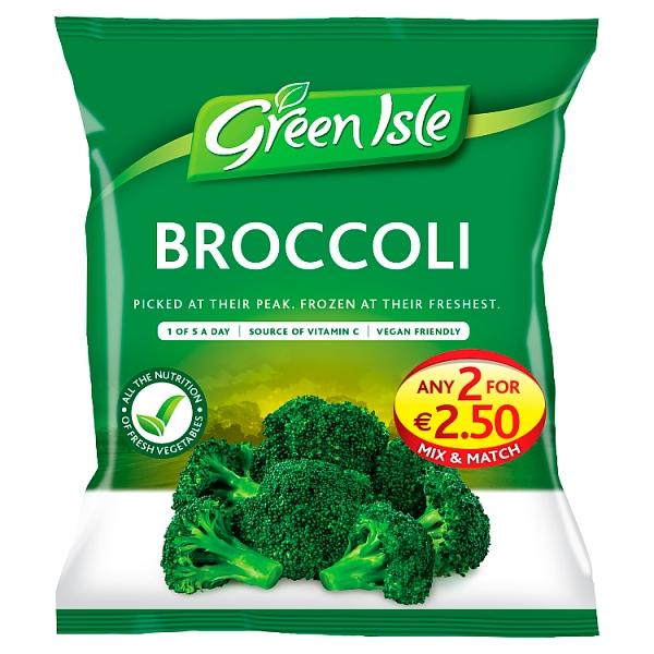 Green Isle Broccoli Florets 25% Extra Free