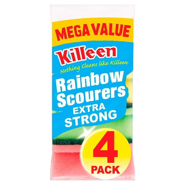 Killeen Extra Strong Rainbow Scourers 4 Pack