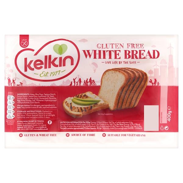 Kelkin Free From White Bread (400 Grams)