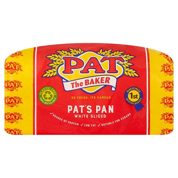 Pat The Baker White Sliced Pan