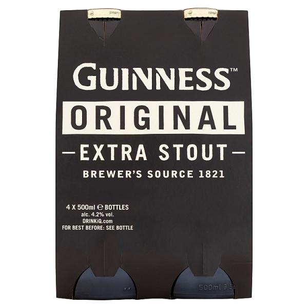 Guinness Stout Bottles 4 Pack