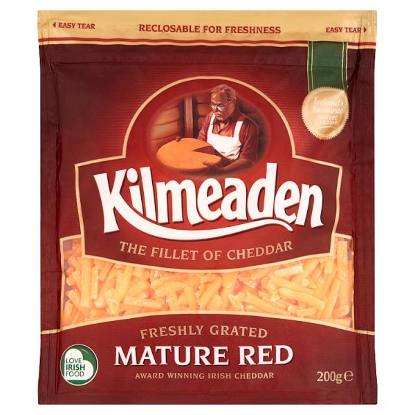 Kilmeaden Grated Mature Red Cheddar