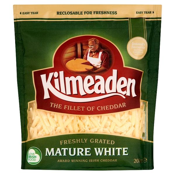 Kilmeaden Grated Mature White Cheddar