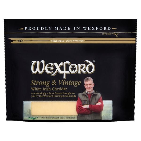 Wexford Strong & Vintage White Irish Cheddar