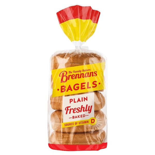 Brennans Plain Bagels 5 Pack