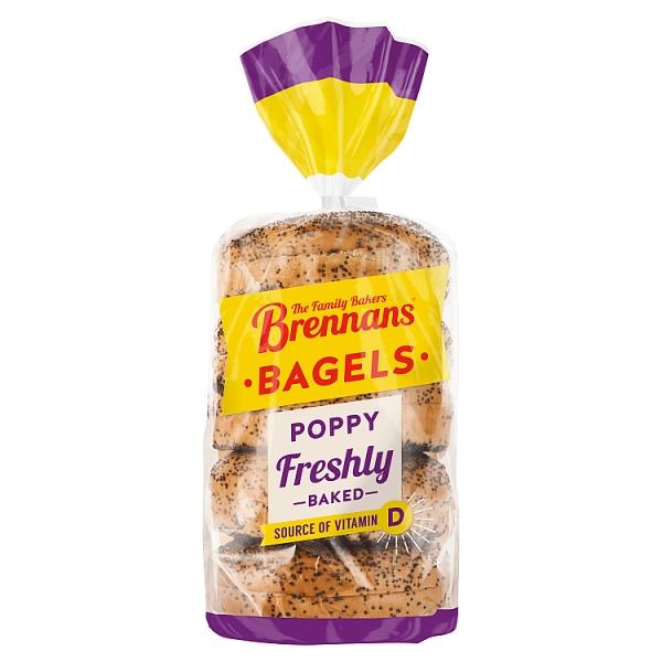 Brennans Poppy Seed Bagels 5 Pack