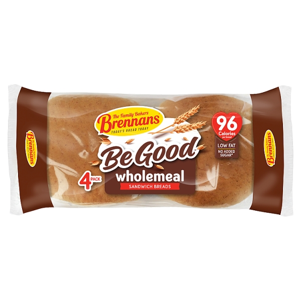 Brennans Wholemeal Sandwich Breads 4 Pack