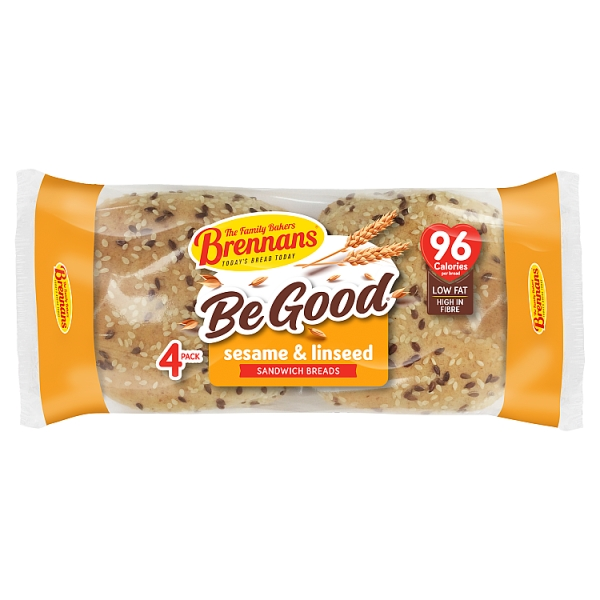 Brennans Sesame and Linseed Sandwich Breads 4 Pack