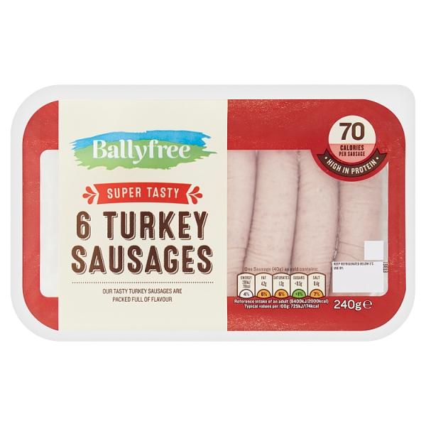 Ballyfree Turkey Sausages