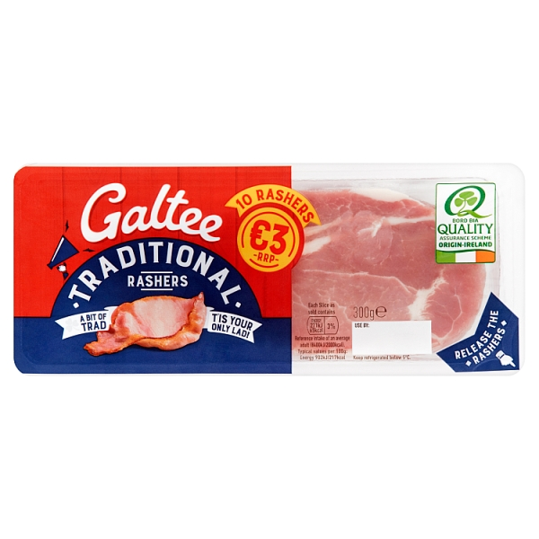 Galtee Value Traditional Cap Rashers 10 Pack