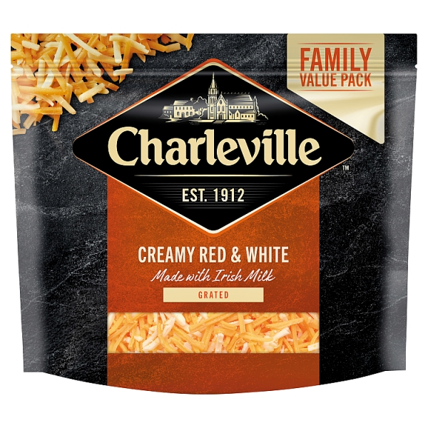Charleville Red & White Grated Cheese Family Value Pack