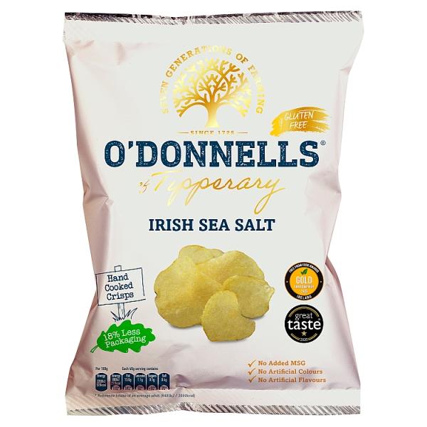 O'Donnells of Tipperary Irish Sea Salt Crisps