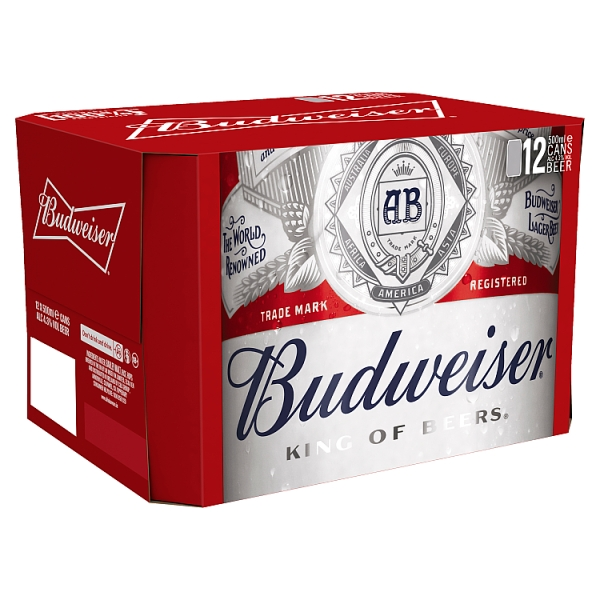 Budweiser Lager Cans 12 Pack