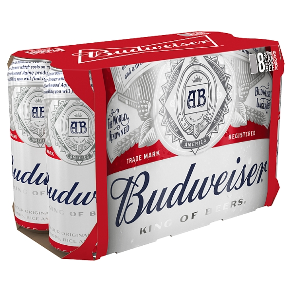 Budweiser Lager Cans 8 Pack