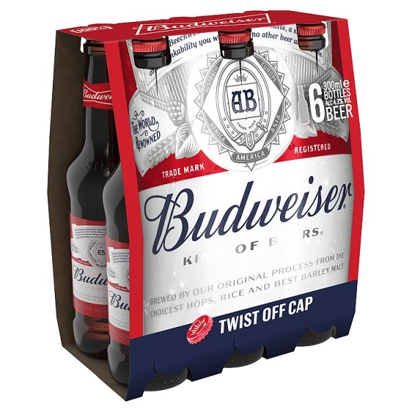 Budweiser Longneck 6 Pack