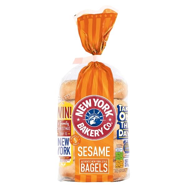 New York Bakery Co. Sesame Bagels 5 Pack