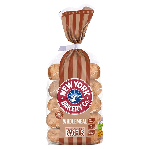 New York Bakery Co. Wholemeal Bagels 5 pack