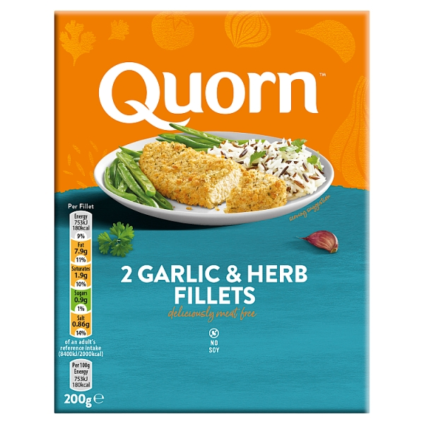 Quorn Garlic and Herb Fillets 2 Pack