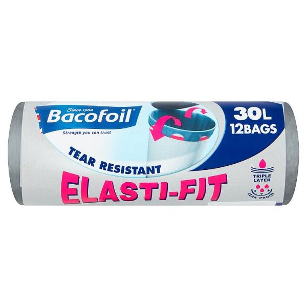 Bacofoil 30l Elasti-Fit Bin Bags